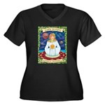 Lady Scorpio Women's Plus Size V-Neck Dark T-Shirt