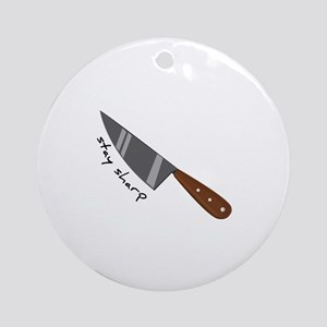 Stay Sharp Ornament (Round)