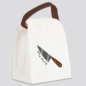 Stay Sharp Canvas Lunch Bag
