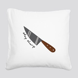 Stay Sharp Square Canvas Pillow