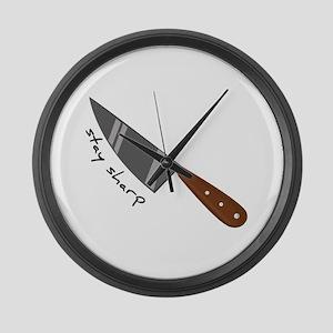 Stay Sharp Large Wall Clock