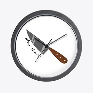 Stay Sharp Wall Clock