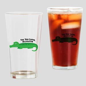 Later Alligator Drinking Glass