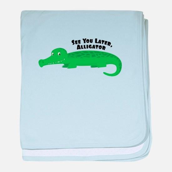 Later Alligator baby blanket