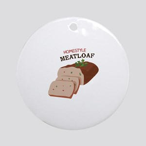 Homestyle Meatloaf Ornament (Round)