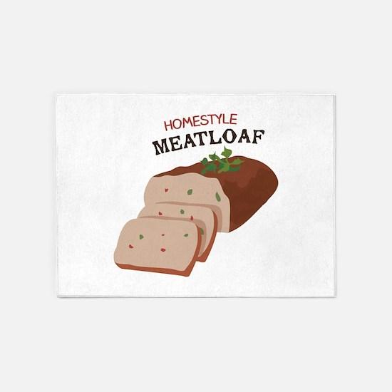 Homestyle Meatloaf 5'x7'Area Rug