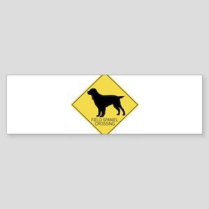 Field Spaniel crossing Bumper Sticker