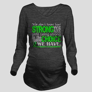 NH Lymphoma HowStron Long Sleeve Maternity T-Shirt