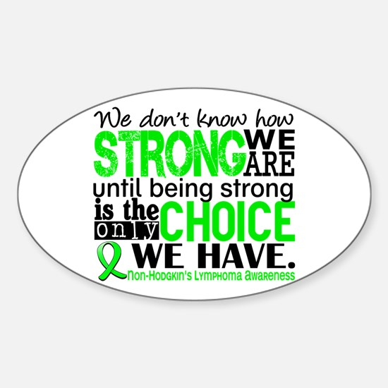 NH Lymphoma HowStrongWeAre Sticker (Oval)