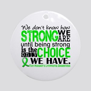 NH Lymphoma HowStrongWeAre Ornament (Round)