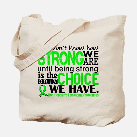 NH Lymphoma HowStrongWeAre Tote Bag