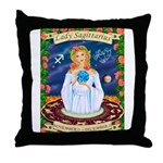 Lady Sagittarius Throw Pillow