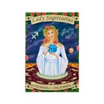 Lady Sagittarius Rectangle Magnet