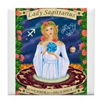 Lady Sagittarius Tile Coaster
