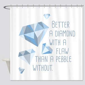 Flawed Diamonds Shower Curtain
