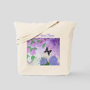New Guinea Delight Lavender Text Tote Bag