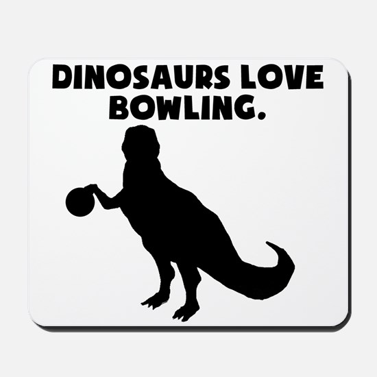 Dinosaurs Love Bowling Mousepad