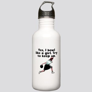 I Bowl Like A Girl Water Bottle