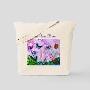 Birdwing Butterfly Personalized Purple Tote Bag