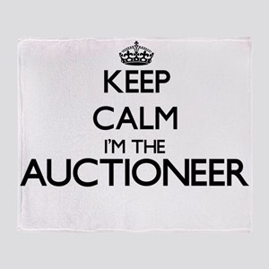 Keep calm I'm the Auctioneer Throw Blanket