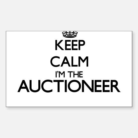 Keep calm I'm the Auctioneer Decal