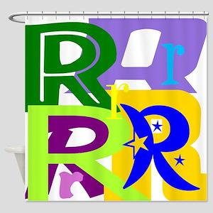 Initial Design (R) Shower Curtain