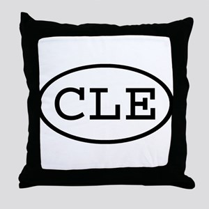CLE Oval Throw Pillow
