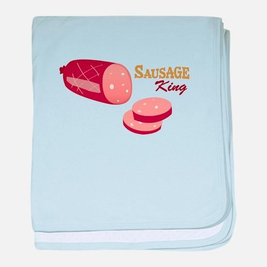 Sausage King baby blanket
