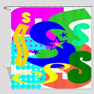 Initial Design (S) Shower Curtain