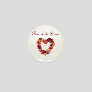 Niece of the Groom Mini Button