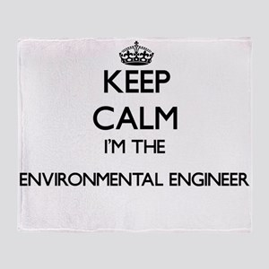 Keep calm I'm the Environmental Engi Throw Blanket