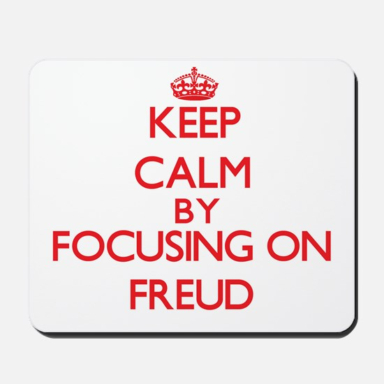 Keep Calm by focusing on Freud Mousepad