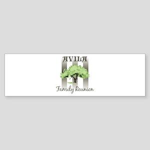AVILA family reunion (tree) Bumper Sticker