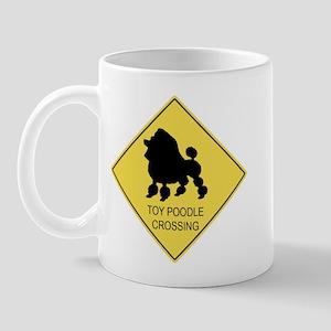Toy Poodle crossing Mug