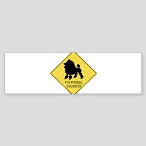 Toy Poodle crossing Bumper Sticker
