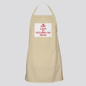 Keep Calm by focusing on Frogs Apron