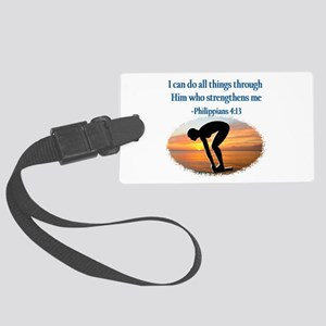 CHRISTIAN SWIMMER Large Luggage Tag