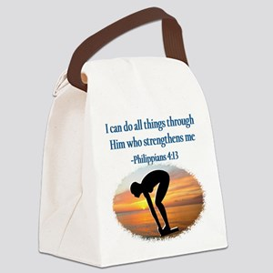 CHRISTIAN SWIMMER Canvas Lunch Bag