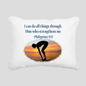 CHRISTIAN SWIMMER Rectangular Canvas Pillow