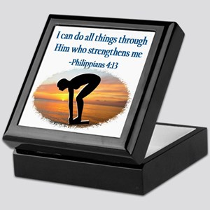 CHRISTIAN SWIMMER Keepsake Box