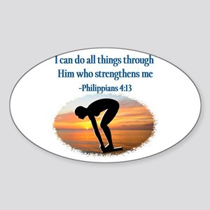 CHRISTIAN SWIMMER Sticker (Oval)