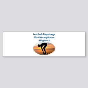 CHRISTIAN SWIMMER Sticker (Bumper)