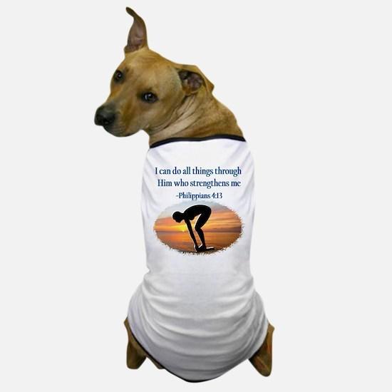 CHRISTIAN SWIMMER Dog T-Shirt