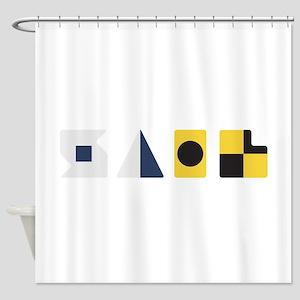 Nautical Signal Flag Shower Curtains