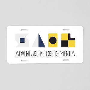 Adventure Aluminum License Plate
