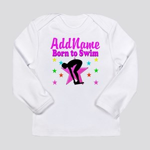 SWIMMER DREAMS Long Sleeve Infant T-Shirt