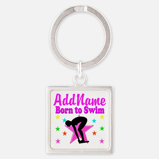 SWIMMER DREAMS Square Keychain