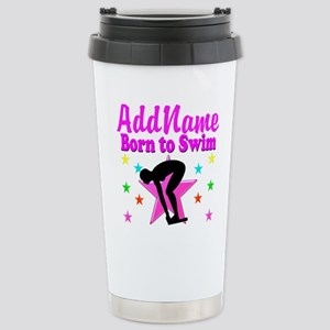 SWIMMER DREAMS Stainless Steel Travel Mug