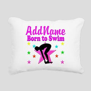 SWIMMER DREAMS Rectangular Canvas Pillow