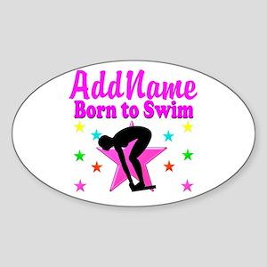 SWIMMER DREAMS Sticker (Oval)